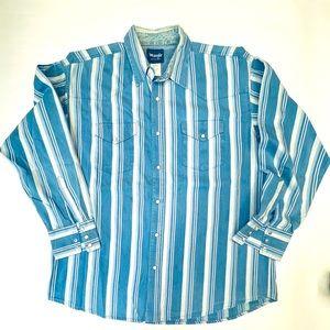 WRANGLER XL WESTERN SHIRT Pearl Snap Buttons